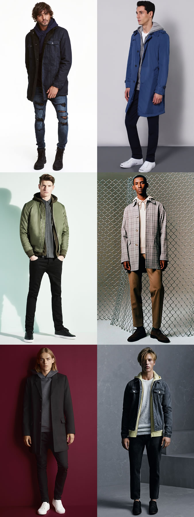 Men's Layered Hoodies Outfit Inspiration Lookbook