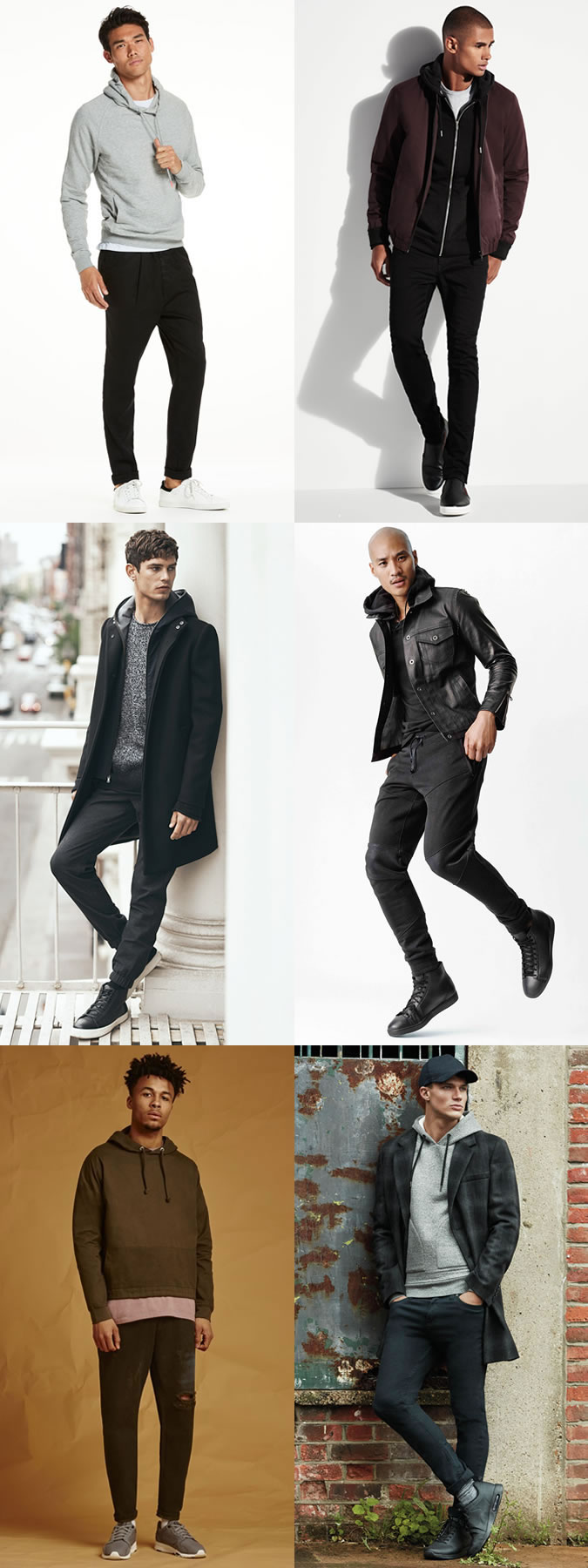 Men's Athleisure Hoodies Outfit Inspiration Lookbook