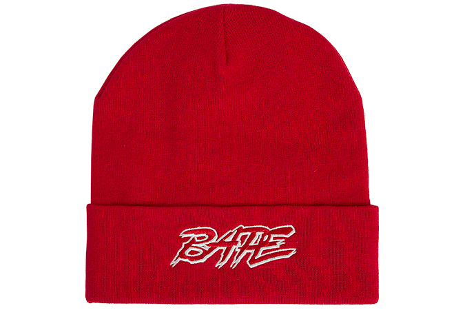 A BATHING APE Ribbed beanie hat
