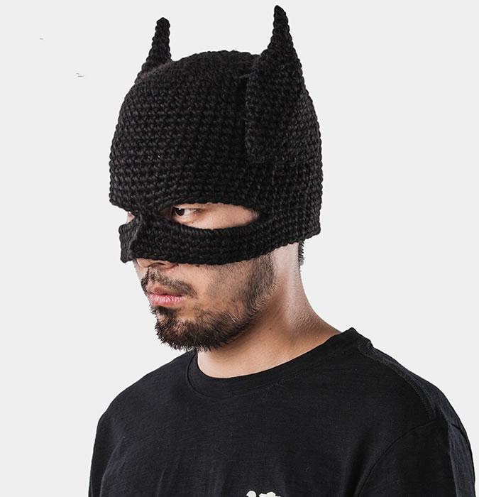 Men's novelty bat beanie