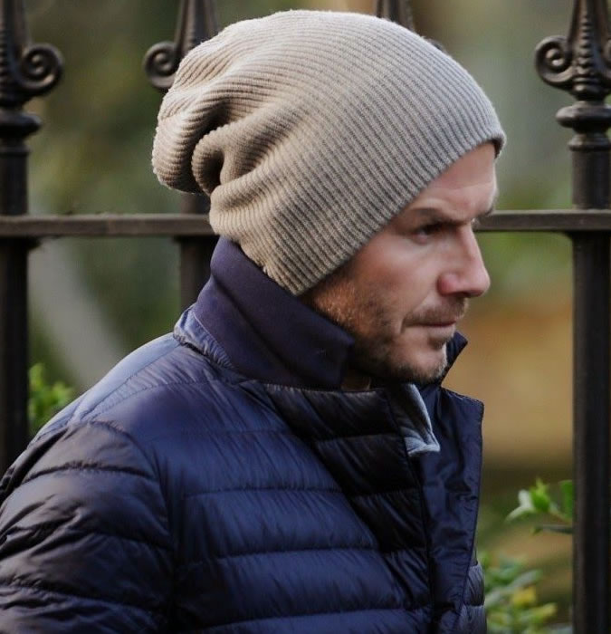 David Beckham oversized beanie
