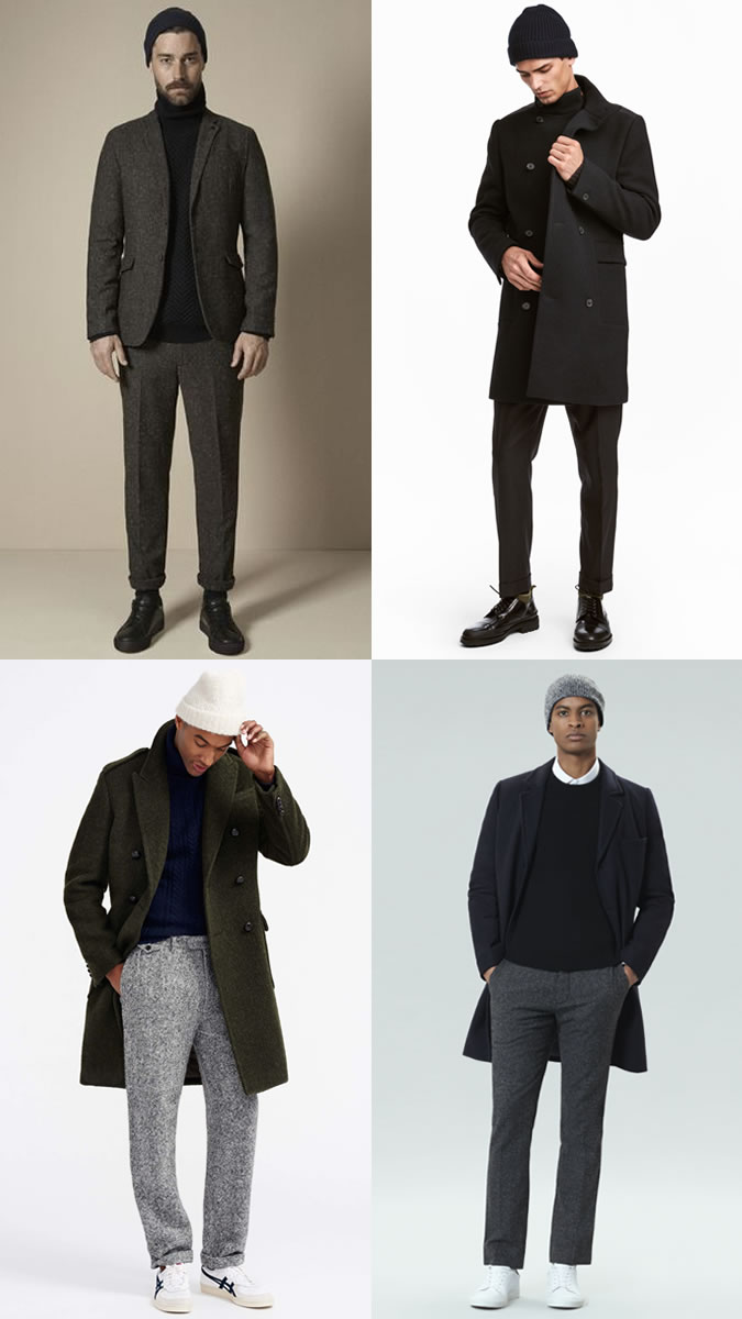 How to wear a beanie with a suit for men