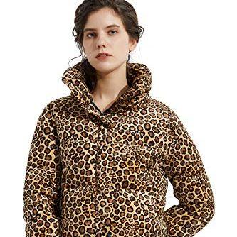 Women's Leopard Print Down Jacket